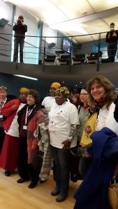 La Marche mondiale des femmes emmenée par Béatrice Bashizi déposait ce 6 mars son cahier de revendidactions au Ministre